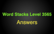 Word Stacks Level 3565 Answers