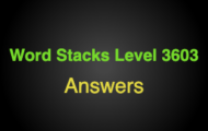 Word Stacks Level 3603 Answers
