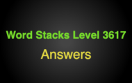 Word Stacks Level 3617 Answers
