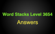 Word Stacks Level 3654 Answers