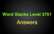 Word Stacks Level 3751 Answers