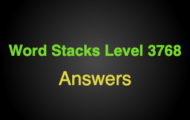 Word Stacks Level 3768 Answers