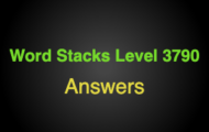 Word Stacks Level 3790 Answers