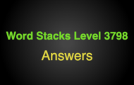 Word Stacks Level 3798 Answers