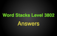 Word Stacks Level 3802 Answers
