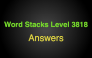 Word Stacks Level 3818 Answers