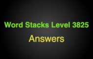 Word Stacks Level 3825 Answers