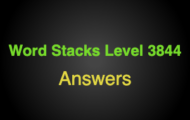 Word Stacks Level 3844 Answers