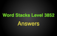 Word Stacks Level 3852 Answers