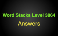 Word Stacks Level 3864 Answers
