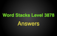 Word Stacks Level 3878 Answers
