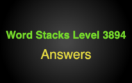 Word Stacks Level 3894 Answers