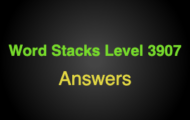 Word Stacks Level 3907 Answers