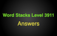 Word Stacks Level 3911 Answers