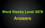 Word Stacks Level 3978 Answers