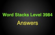 Word Stacks Level 3984 Answers