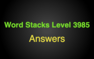 Word Stacks Level 3985 Answers
