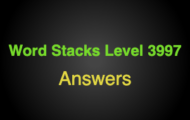 Word Stacks Level 3997 Answers