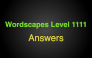 Wordscapes Level 1111 Answers