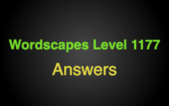 Wordscapes Level 1177 Answers
