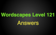 Wordscapes Level 121 Answers