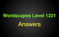 Wordscapes Level 1221 Answers