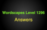 Wordscapes Level 1296 Answers