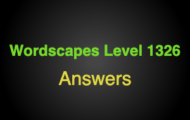 Wordscapes Level 1326 Answers