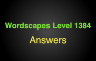 Wordscapes Level 1384 Answers