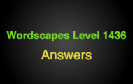Wordscapes Level 1436 Answers