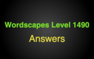 Wordscapes Level 1490 Answers