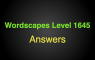 Wordscapes Level 1645 Answers