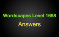 Wordscapes Level 1698 Answers