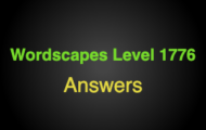 Wordscapes Level 1776 Answers