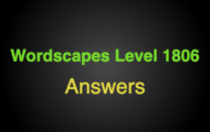 Wordscapes Level 1806 Answers