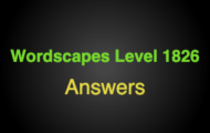 Wordscapes Level 1826 Answers