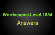 Wordscapes Level 1834 Answers