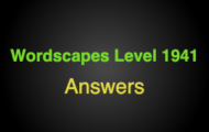 Wordscapes Level 1941 Answers