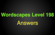 Wordscapes Level 198 Answers