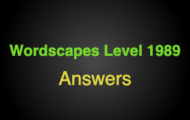 Wordscapes Level 1989 Answers