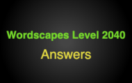 Wordscapes Level 2040 Answers