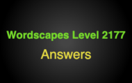 Wordscapes Level 2177 Answers
