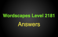 Wordscapes Level 2181 Answers