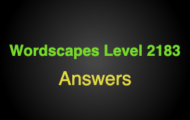 Wordscapes Level 2183 Answers
