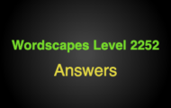 Wordscapes Level 2252 Answers