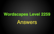 Wordscapes Level 2259 Answers