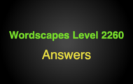 Wordscapes Level 2260 Answers