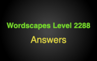Wordscapes Level 2288 Answers