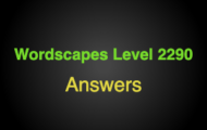 Wordscapes Level 2290 Answers