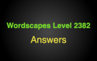Wordscapes Level 2382 Answers